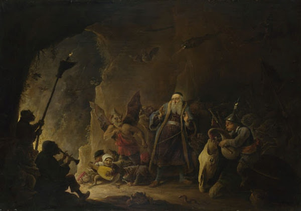 The Rich Man being led to Hell by David Teniers the Younger, Macabre Art, Macabre Paintings, Horror Paintings, Freak Art, Freak Paintings, Horror Picture, Terror Pictures