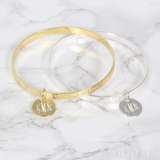 A Monogrammed Bracelet