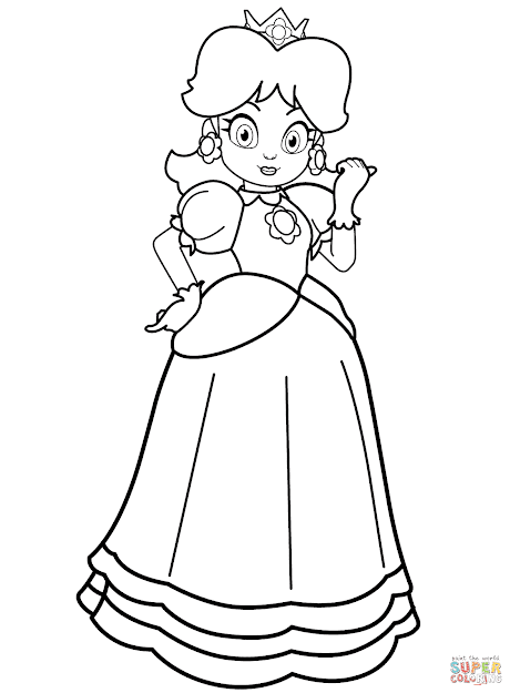 Click The Princess Daisy Coloring Pages To View Printable Version Or Color  It Online Patible With Ipad And Android Tablets