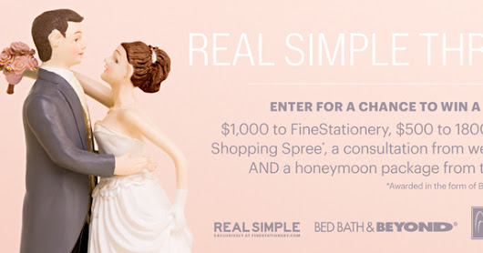 Real Simple wants to help you with your Wedding!