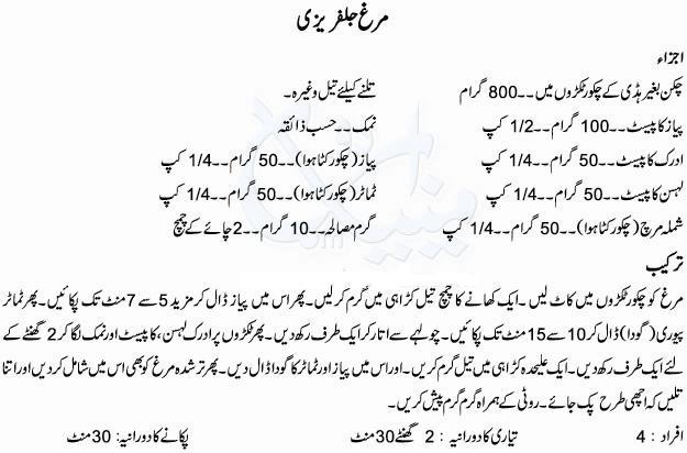 Chicken Jalfrezi Recipe Pakistani In Urdu Recipe In Urdu