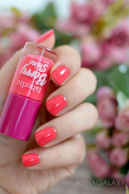 Faberlic Berry Shine лак для ногтей 7631 клубника маникюр