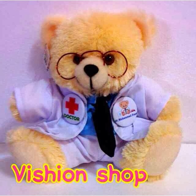 Boneka Wisuda Murah  Boneka Profesi Teddy Bear   Dokter 5512a8d621