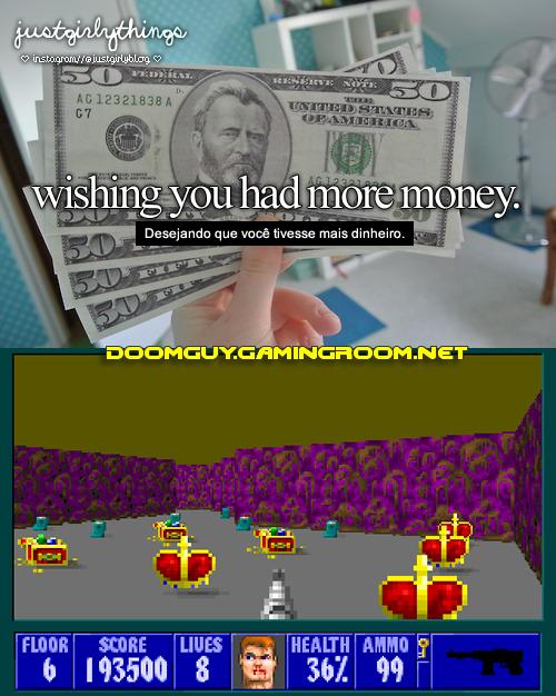 Desejando que você tivesse mais dinheiro