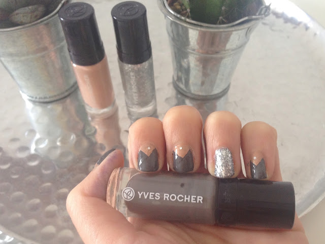 TheBlondeLion Naildesign Nailart Triangle Sparkle Yves Rocher