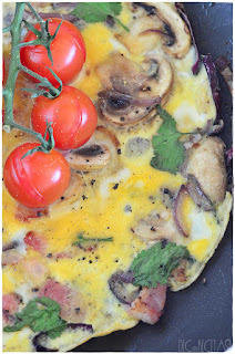 fritatta de huevo, bacon, verduras y queso- fritatta de espinacas