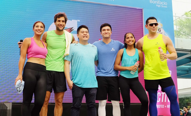 Sweat it out with fitness ambassadors Bubbles Paraiso, Nico Bolzico, Vince Velasco and Mond Gutierrez.