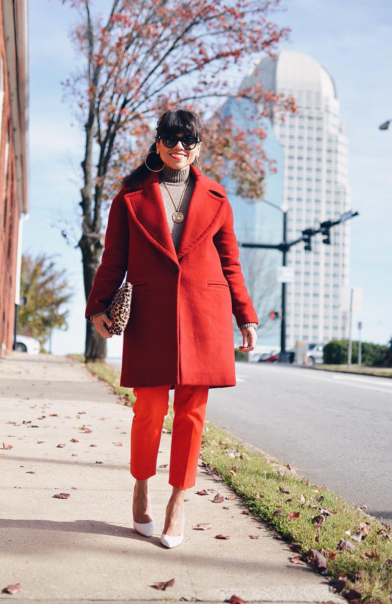Bright coat street style
