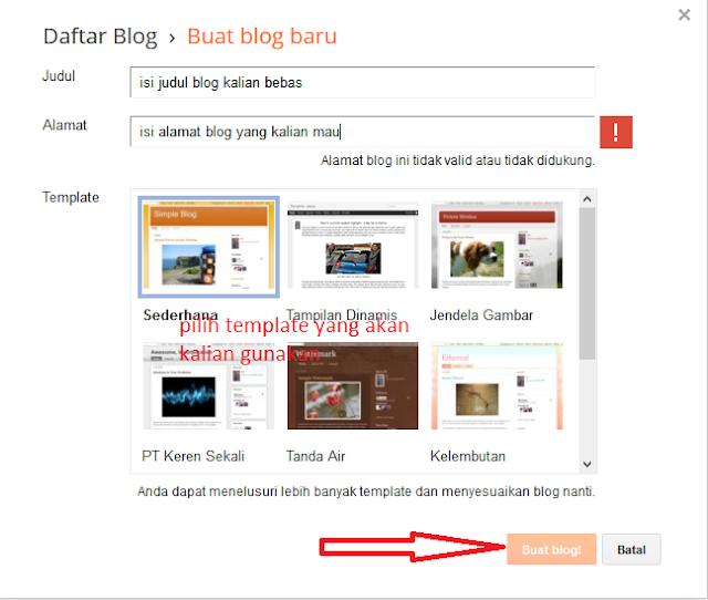 cara membuat blog lengkap