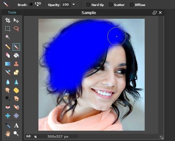 edit foto warna rambut