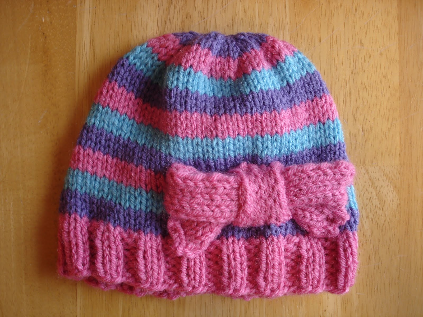 Fiber Flux Free Knitting Patternper Pink Toddler Hat