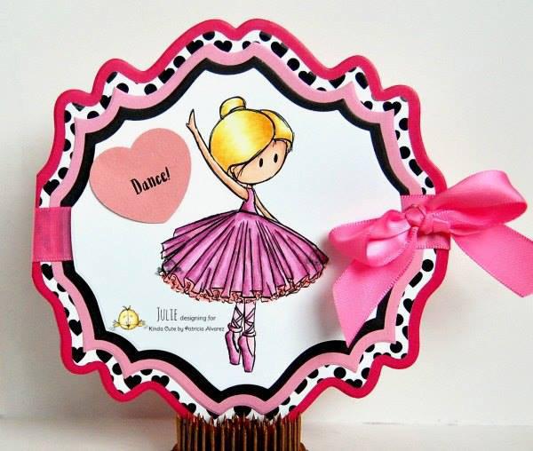 Pink ballerina card