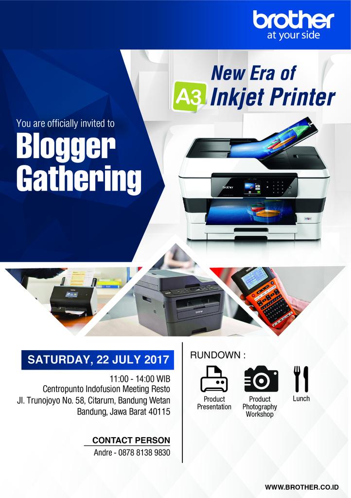Blogger Tekno Bandung? Brother Printer Mengundang Anda!