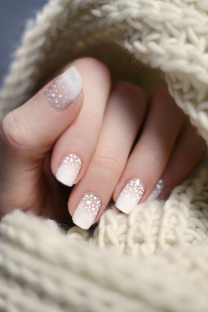 Winter Nagel Winterliches Schnee Nageldesign