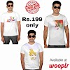 Wooplr - Buy White Printed T-Shirt in Rs.199 only Special Offers.