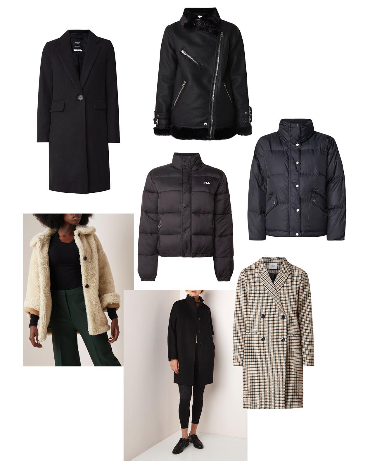 Bijenkorf, mantels, teddyjas, puffer, winterjassen, dames, 2019, warm, zwart, minimalistisch