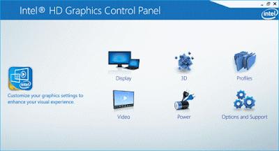 تحسين اداء الالعاب  والبرامج علي كارت الشاشة من نوع انتل Intel