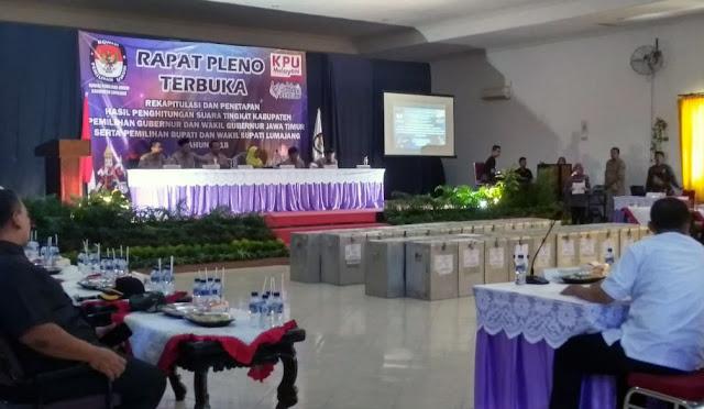 Pleno Rekapitulasi Suara di Lumajang