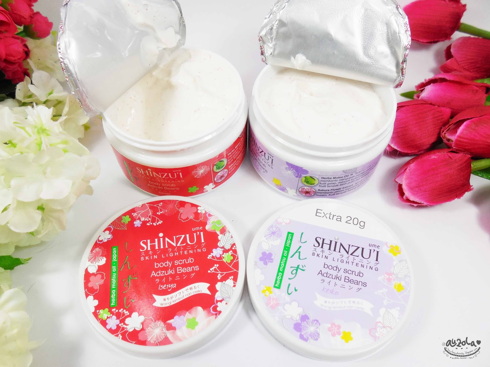 What so special about this Well Shinzu i Ume Body Scrub Adzuki Beans is a dry scrub means you can use it without have to rinse it It s amazing or what