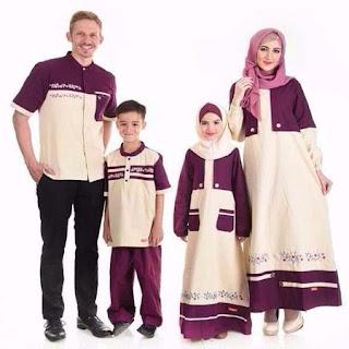 baju lebaran sepasang keluarga