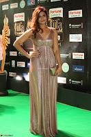 Telugu Actress Aarthi in Deep Neck Backless Golden Gown at IIFA Utsavam Awards 2017 Exclusive 52.JPG