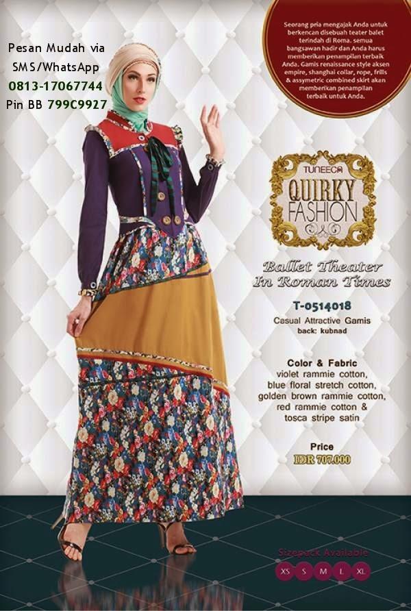 gamis tuneeca edisi lebaran 2014 baju muslim terbaru 2019