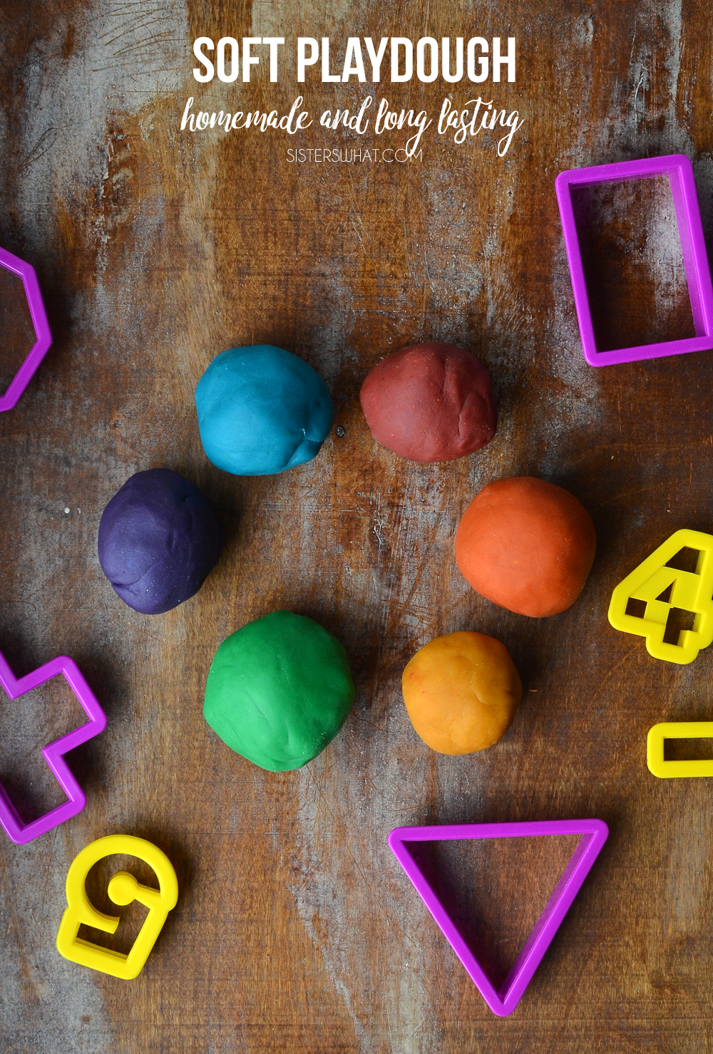 This is the best playdough recipe ever! it has lasted a whole year and is still really soft!