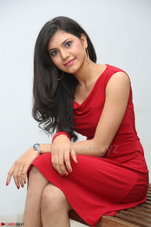 Mounika Telugu Actress in Red Sleeveless Dress Black Boots Spicy Pics 022.JPG