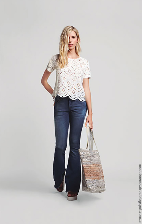Moda mujer verano 2017 ropa de moda 2017 remeras, blusas y pantalones oxford Kevingston Mujer. Moda 2017.