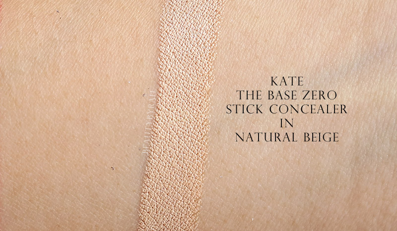 Kate The Base Zero Concealer Fall Winter Collection Review and Swatches
