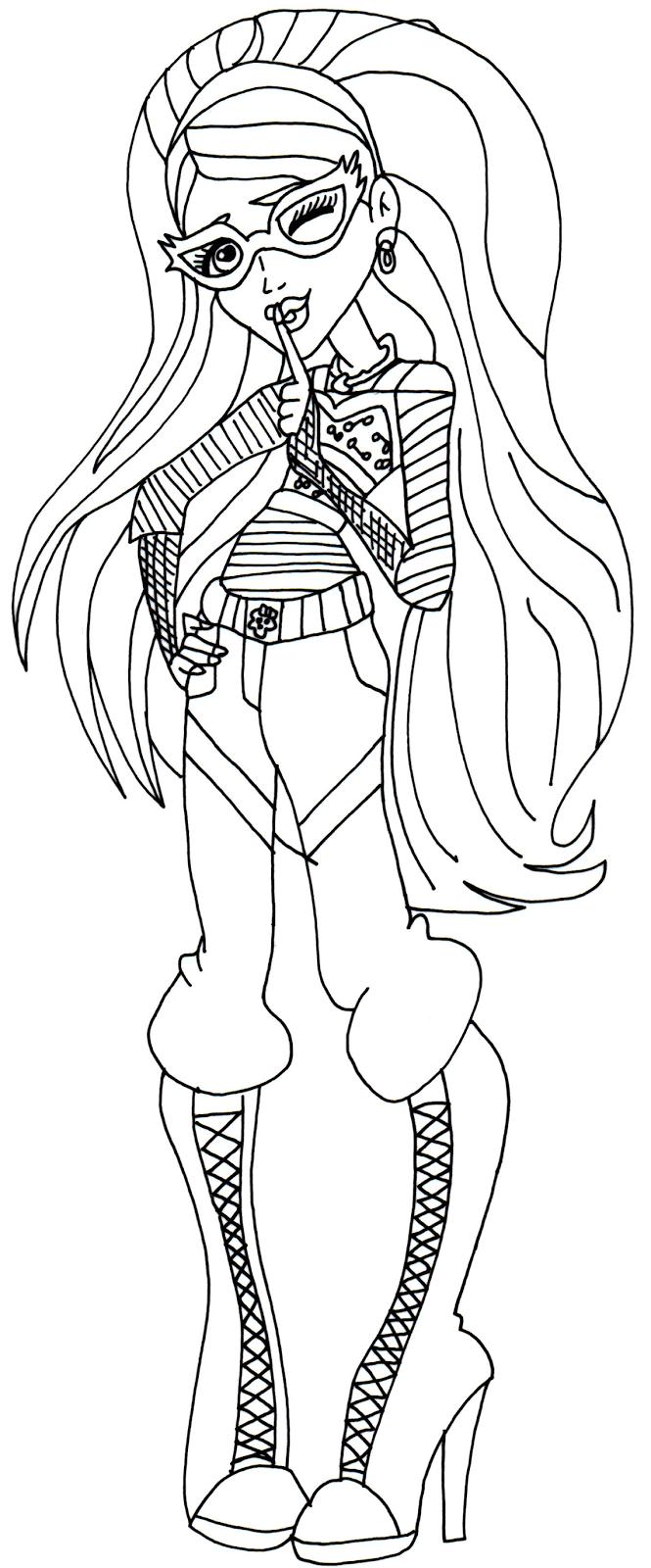 Free Printable Monster High Coloring Pages: Ghoulia Yelps