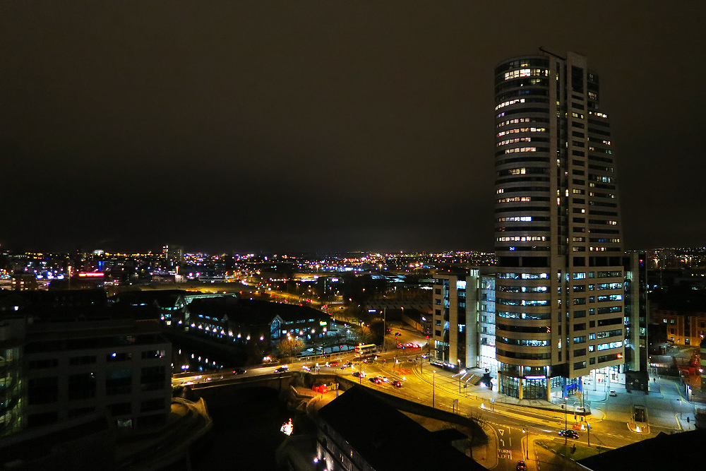 View from the Doubletree Hilton Leeds Sky Lounge