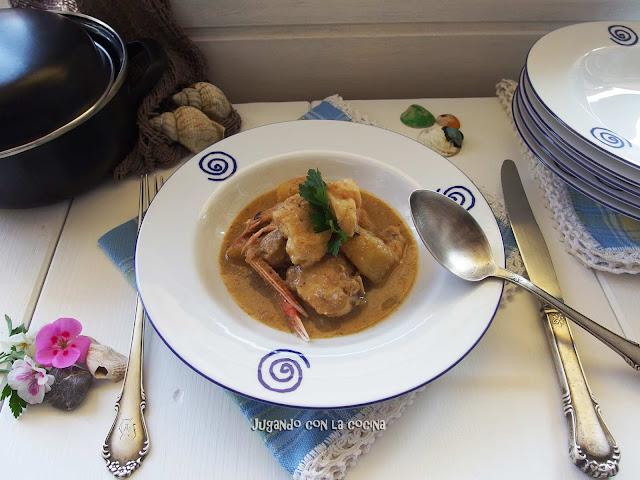 Suquet de Festa Major de Carme Ruscalleda amb rap i escamarlans - Jugando con la cocina