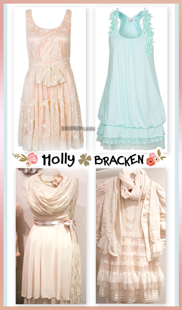 Robes romantiques MOLLY BRACKEN couleur pastel