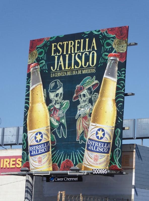 Estrella Jalisco Dia de Muertos beer billboard