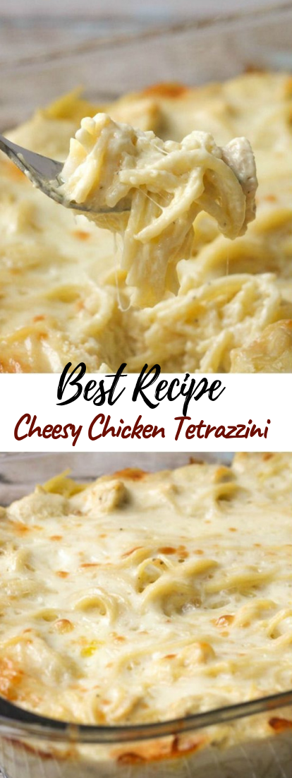 Cheesy Chicken Tetrazzini #dinnerrecipe #food