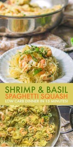 Shrimp & Basil Spaghetti Squash