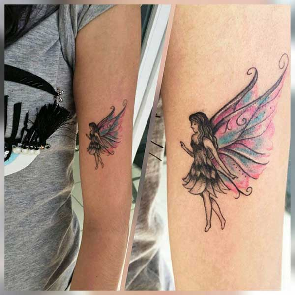 bicep fairy angel tattoo