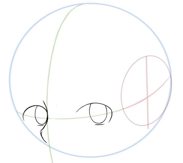 Dessiner des yeux manga de côté: dessiner les pupilles