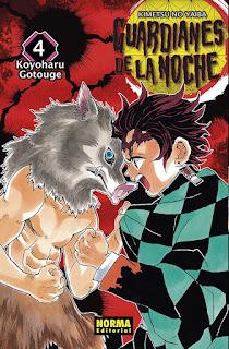 """Reseña de """"Guardianes de la Noche (Kimetsu no Yaiba)"""" de Koyoharu Gotouge. - Norma Editorial"""
