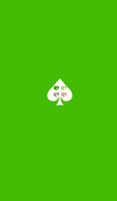 Green 2 Spade Heart
