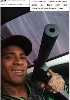 'Sniper' da Cracolândia se exibia com metralhadora na internet
