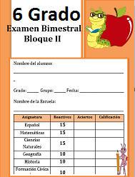 Examen Sexto grado Bloque 2 | 2016-2017