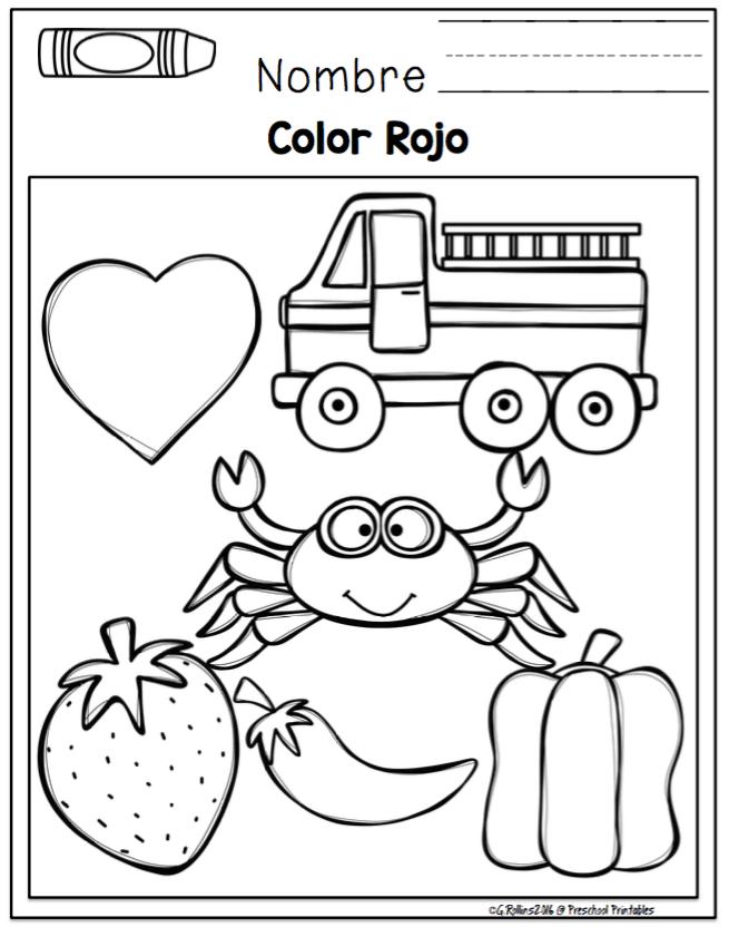 Learn Colors in Spanish ~ Preschool Printables