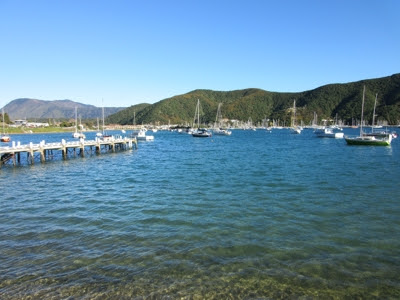 Waikawa, cerca de Picton, Nueva Zelanda