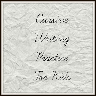 Cursive Writing For Kids