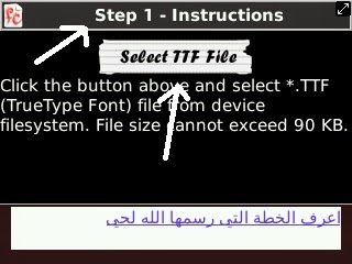 cara menambahkan font pc / laptop ke hp blackberry