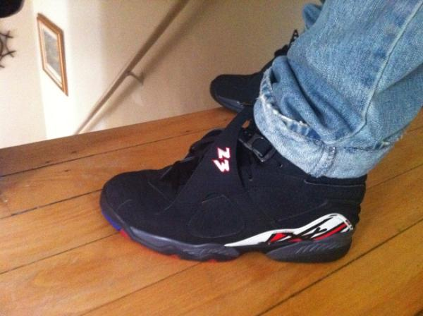 d6b279f1aad Parallel Outfits  Air Jordan 8 Playoff s on Feet