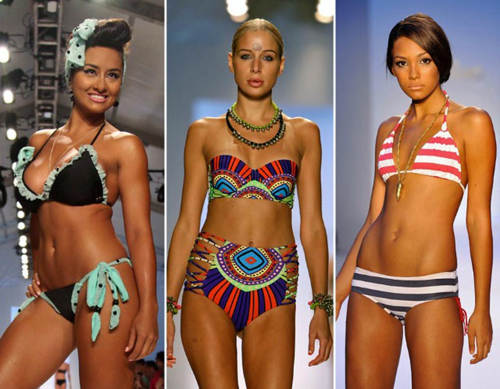 2d17fb0416188 In Bildern: Bikinis und Badeanzüge für 2014 von der 'Fashion Week Swim' in  Miami