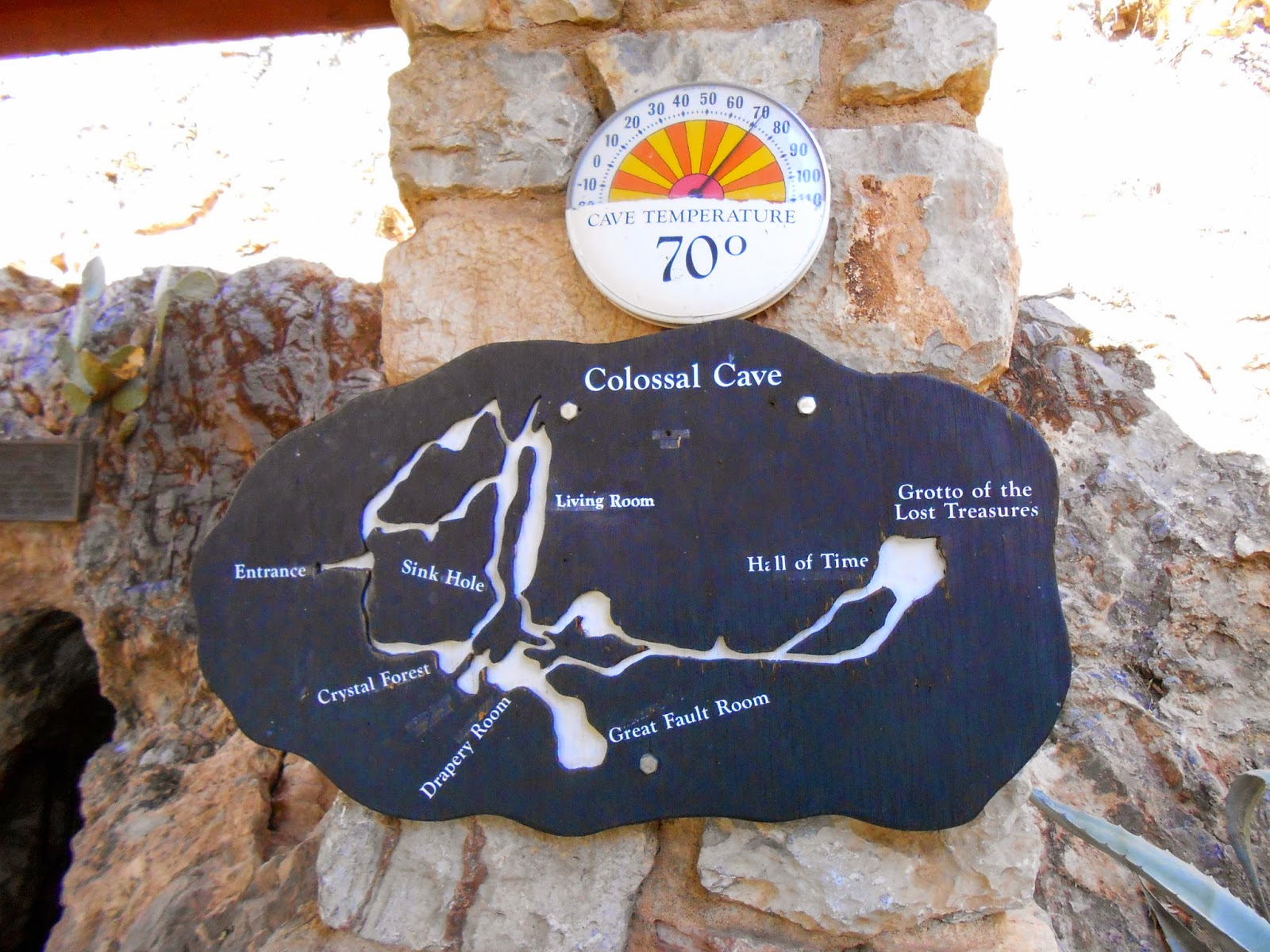 map of colossal cave mountain park cave in tucson arizona